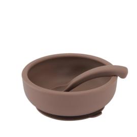 Bowl Met Deksel En Lepel, Vintage