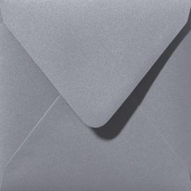 Envelop Zilver glanzend - 14 x 12,5 cm