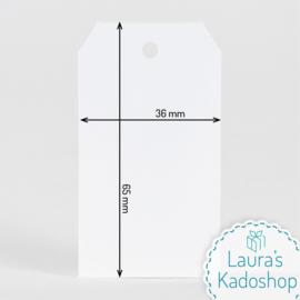 Kadolabel wit - Blanco