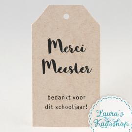 Kadolabel eco - Merci Meester + schooljaar