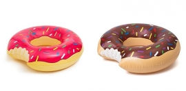 Giga opblaasbare bruine donut Ø 120 cm