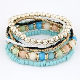 kralen armband | lichtblauw