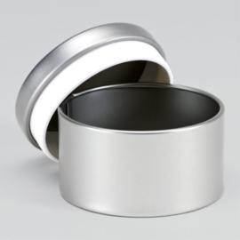 Blikken doosje | Zilver (set van 4)