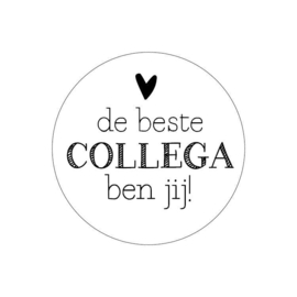 Sticker - de beste COLLEGA ben jij!