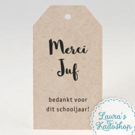 Kadolabel eco - Merci Juf + schooljaar
