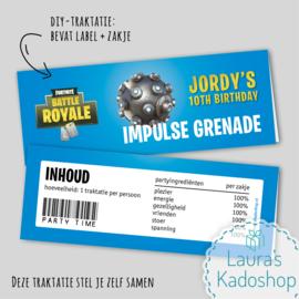 Label + zakje - Impulse Grenade (Fortnite)