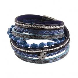 Wikkelarmband Clover | blauw