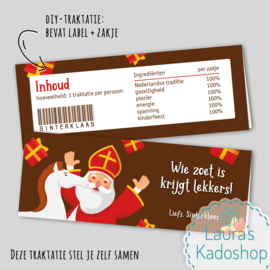 Label + zakje - Sinterklaasthema