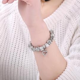 armband  'Zilverhart'