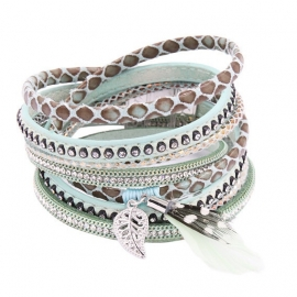 wikkelarmband Feather | mint