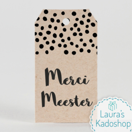 Kadolabel eco - Merci Meester