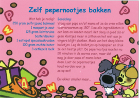Postkaart 'Zelf pepernootjes bakken'