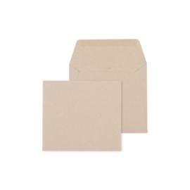 Envelop Eco bruin- 14 x 12,5 cm
