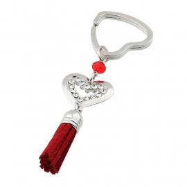 Sleutelhanger 'Hart rood'