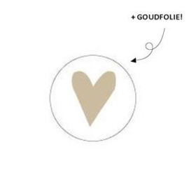 Sticker - hartje goud (2x)