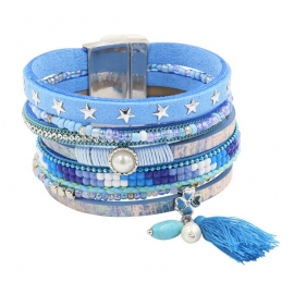 Wikkelarmband Happiness | lichtblauw