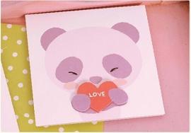 Pop-up wenskaart 'Panda roze'
