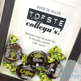 'Toffee' in een donker lijstje