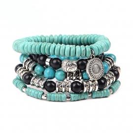 kralen armband   turquoise ZON