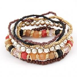 kralen armband | bruin