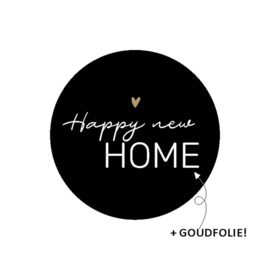 Sticker - happy new home (2x)