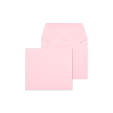 Envelop Soft roze - 14 x 12,5 cm