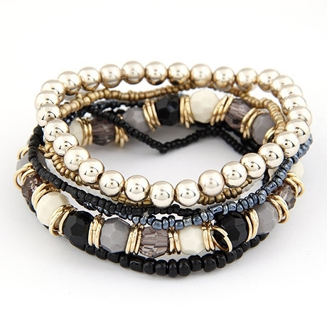 kralen armband | grijs