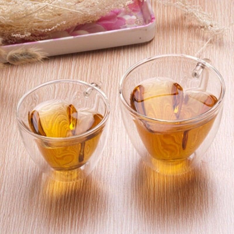 Dubbelwandig glas 'Hart'