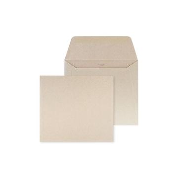 Envelop Bruin glanzend - 14 x 12,5 cm