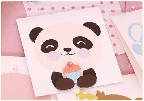 Pop-up wenskaart 'Pandabeertje'