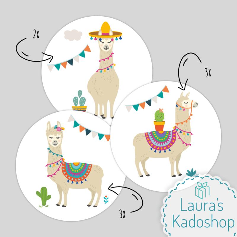Pringles Top-stickers (8 stuks) - Lama