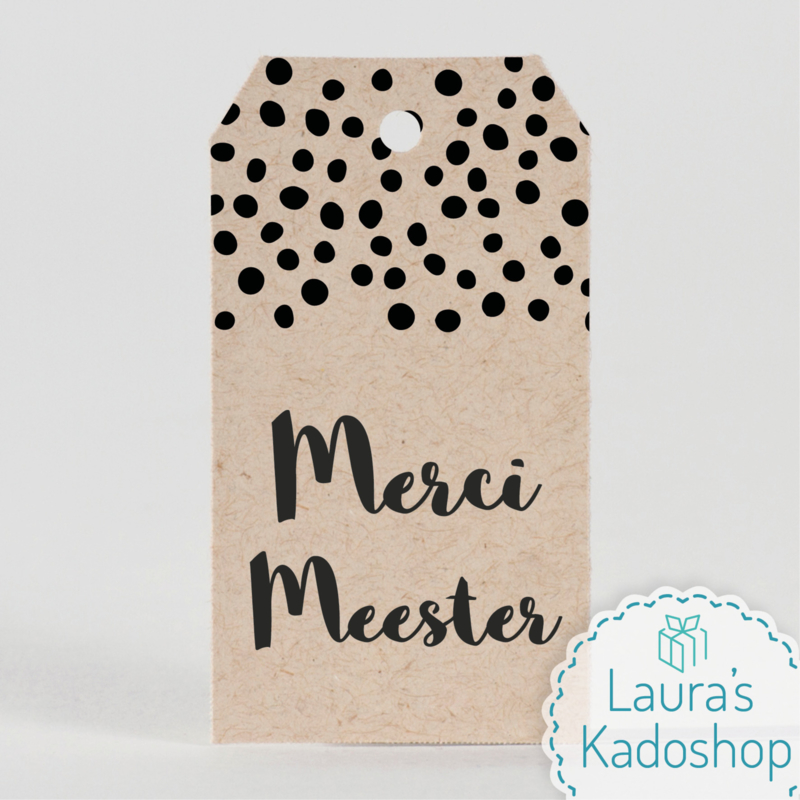 Kadolabel eco - Merci Meester
