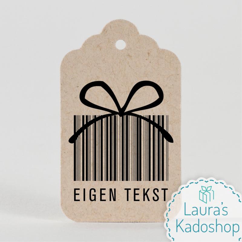 Kadolabel eco sierlijk - Eigen tekst (4 stuks)