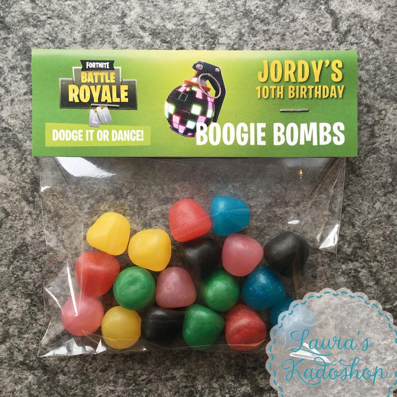 DIY Traktatie 'Boogie Bombs' (Fortnite)