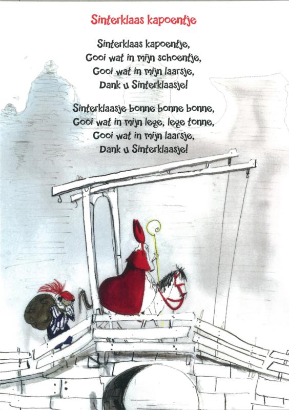 Postkaart 'Sinterklaas kapoentje'