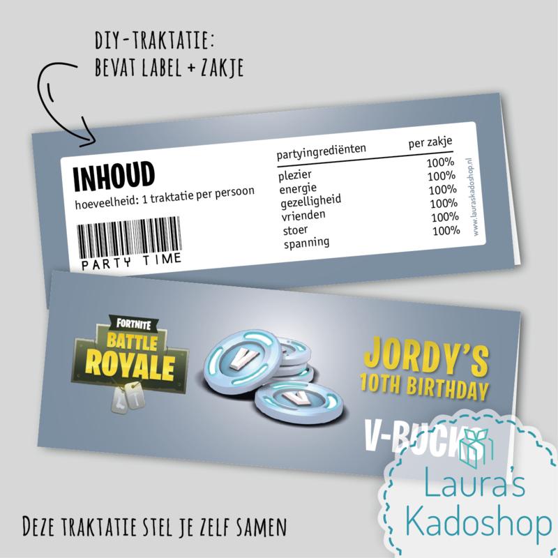 Label + zakje - V-Bucks (Fortnite)