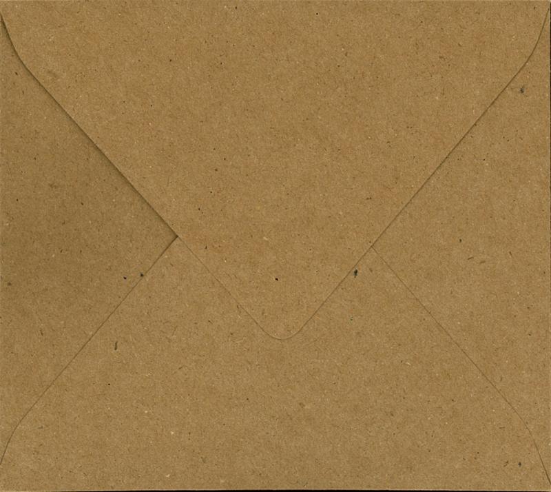 Envelop Bruin Kraft - 14 x 12,5 cm