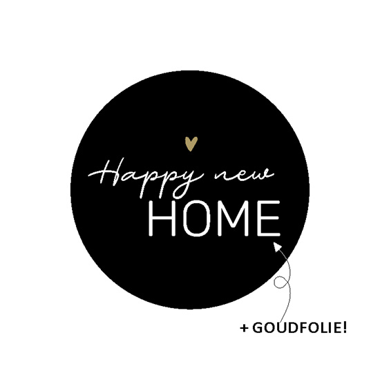 Sticker - happy new home (2x)