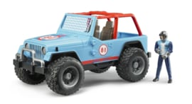 Bruder 2541 - Jeep Cross Country Blauw incl. rally-rijder