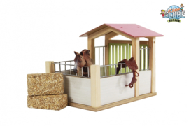Kids Globe 610206 - Paardenbox roze (1:24)