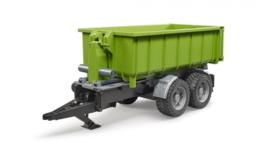 Bruder 2035 - Roll-off containertrailer voor tractoren