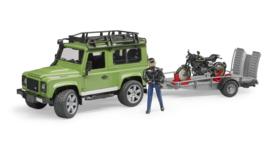 Bruder 2598 - Land Rover Stationwagen met aanhanger en Ducati motor