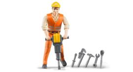 Bruder 60020 - Constructiewerker met accessoires