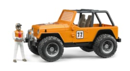 Bruder 2542 - Jeep Cross Country Oranje incl. rally-rijder