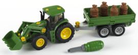 Theo Klein 3905 - John Deere Tractor met voorlader en aanhanger
