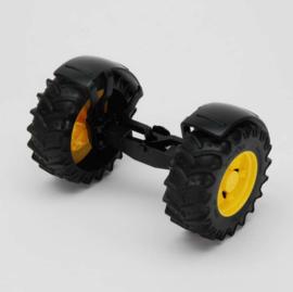 Bruder 43050 - Vooras geel t.b.v. tractoren 3000 serie