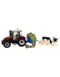 Britains 43205 -Boerderij speelset tractor  en diverse dieren (1:32)