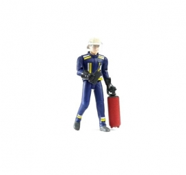 Bruder 60100 - Bworld brandweerman met brandblusapparaat