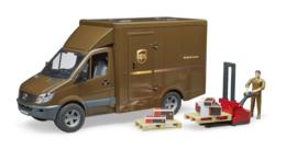 Bruder 2538 - MB Sprinter UPS met chauffeur en accessoires