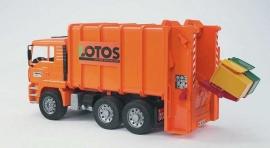 Bruder 2762 - MAN TGA vuilniswagen inclusief 2 vuilcontainers